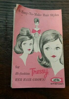 Vintage 1960's American Character Tressy 6 Easy to make hair styles