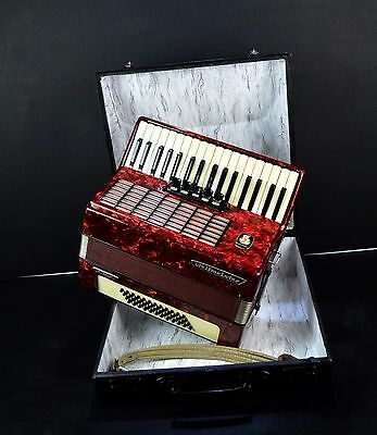 TOP GERMAN PIANO ACCORDION WELTMEISTER STELLA 48 bass,5 reg.+HARD CASE✮Akkordeon