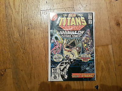 New Teen Titans # 7   1St  Full  Cyborg Origin  Red Hot Key!!