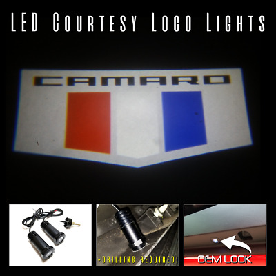 2pc Led Logo Light Projectors Ghost Shadow For Chevrolet Camaro 2016