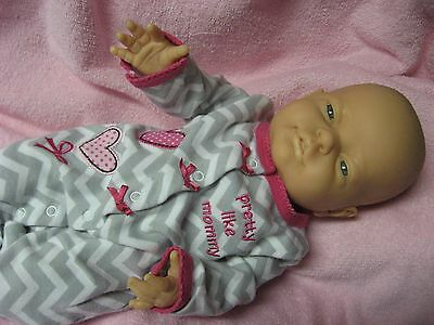 "Berjusa Girl Baby Doll Anatomically Correct all vinly fully jointed 17"" long"
