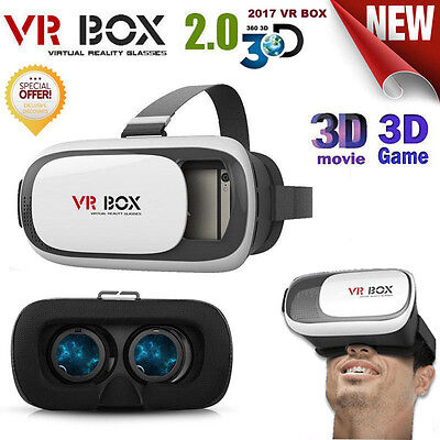 VR BOX 2.0 Virtual Reality 3D Glasses Headset ,Bluetooth Remote Controller phone