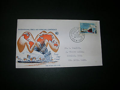 australia decimal first day cover International ports and harbours 1969 adressed