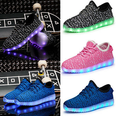 Boys Girls Led Light Up Sport Shoes Kids Luminous Outdoor Sneakers Running shoes