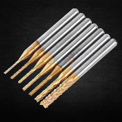 1.0-3.175mm Cemented Carbide End Mill CNC PCB Engraving Drill Bit Milling Cutter
