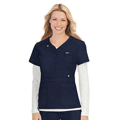 KOI BY KATHY PETERSON~ Kendall NAVY Scrub Top Small New