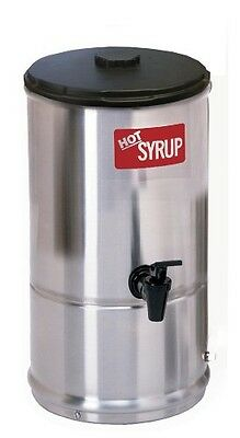 Wilbur Curtis Syrup Warmer 1.0 Gallon Syrup Container - Stainless Steel and