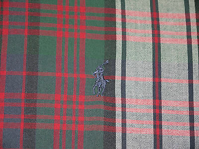 Mens Red Plaid Polo RALPH LAUREN BLAKE Vintage Feel Button-front S/S Shirt 2XL