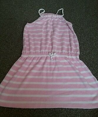 girls next age 9 pink stripey playsuit used