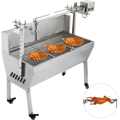 132 Lbs Stainless Steel BBQ,Lamb,Goat,Pig,Chicken Rotisserie Spit Roast Grill UK