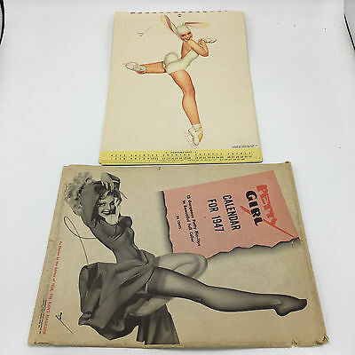1947 Calendar  By Petty Pin Up  Girls 12 Months Complete With Envelope