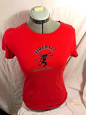 New*fireball Whiskey Ladies Shirt, Baby Doll, Small Or Large, Red Hot Mama !