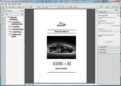*** Jaguar Xj Xj6 Xj8 X350 X358 Workshop Repair Service Manual 2003 - 2009 ***