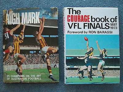 The Courage Book of VFL Finals 1897-1973 + High Mark The Art of Australian Footy