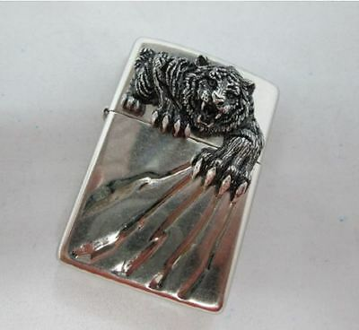 A Tiger Claw NA Zippo Lighter Polish Windproof Made in USA GENUINE Packing