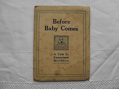 Vintage booklet BEFORE BABY COMES pregnancy expectant mother book by GLAXO