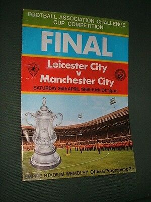 Leicester City V Manchester City. 1969 Fa Cup Final