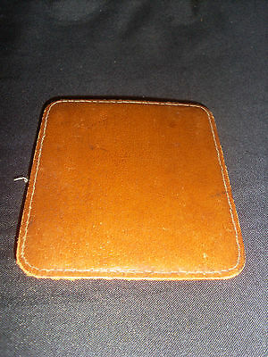 Vintage Brown Leather Hinged Calling Card/Business Card Case - Austrian