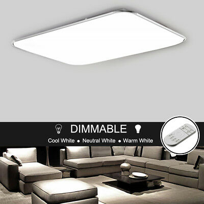 LED Ceiling Down Light Dining Room Bathroom Living Lamp Cool/Warm White Dimmable