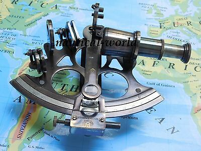 """6""""Nautical Sextant Antique vintage Navigation Sextant Working Brass Sextant Gift"""