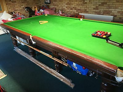 Antique Full Sized Snooker Table