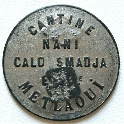 N°10 Tunisie. 50 Centimes. Cantine Nani - Calo Smadja - Metlaoui - ND - R1