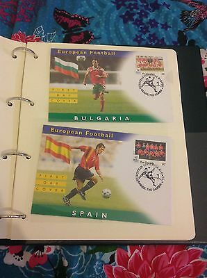 Westminster EUROPEAN FOOTBALL Gambia First Day Covers x12