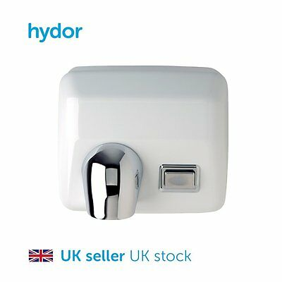 Hand Dryer - 2500W - Manual - White Gloss