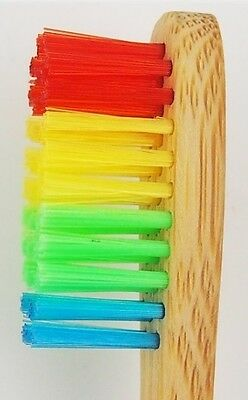 Children's rainbow bamboo toothbrush ~ *Fun,Eco,Biodegradable and Safe!*