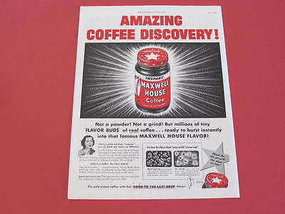 Maxwell House Coffee Original 1953 Full page Advertisement