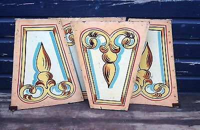 Original fairground circus hand painted wooden panels, 4 available