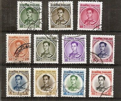 Thailand - 1963 Definitives - Selection of eleven different values - Used