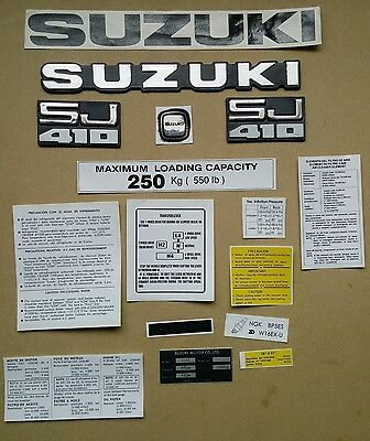 Suzuki Sj 410 / Sj40 Decals And Emblems Set