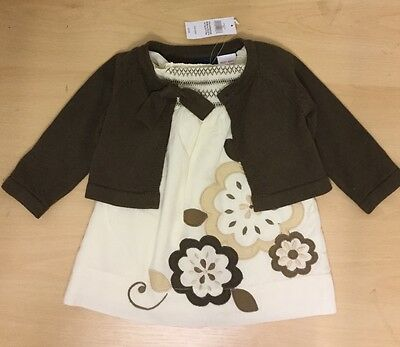 Baby Gap Girls 0-3 months Dress and Cardigan Outfit **BNWT**