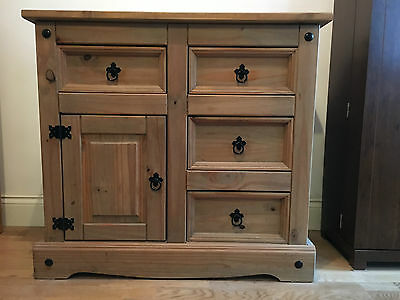 Mexican Corona Pine Sideboard with 3 draws Cabinet