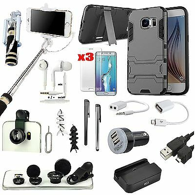 18 x Case Cover Charger Monopod Fish Eye Accessory Pack For Samsung Galaxy S7