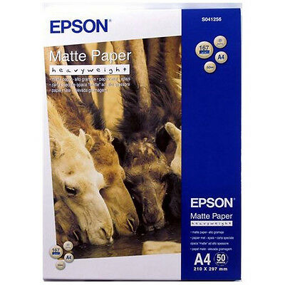 Epson A4 Matte Heavy Weight Paper - 50 Sheets - (C13S041256)
