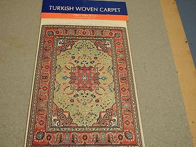 new Dolls House Turkish Carpets 1x large  15x23cm quality 1.12th scale lot30