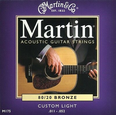 MARTIN M175 - 80/20 Bronze Custom Light muta chitarra acustica