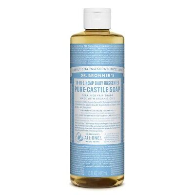 Dr Bronner's Liquid Soap - Baby/ Unscented (473ml)  | BRAND NEW