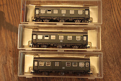 3 x Roco Passenger Carriages N scale 2251/2252