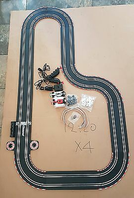 Scalextric Type Carrera Go Track And Cars But No Box Good Working Condition