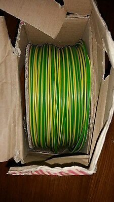 ELECTRICIANS 2.5mm GREEN AND EARTH SINGLES 100ms