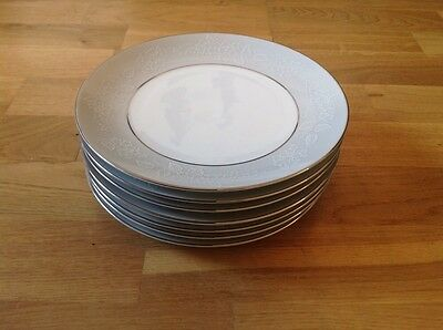 REDUCED Noritake ( Japan )  Damask Pattern5698 ( 8 Salad Plates)  1st Quality