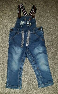 NEXT  Baby Boy Jeans Trousers with suspenders 9-12 months.