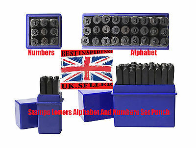 36pcs New Stamps Letters Alphabet Numbers Set Punch Steel HAND Metal Tool Craft