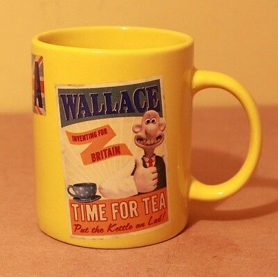 Wallace and Gromit Mug. 'Time for Tea' by Aardman Animation 2012 VGC
