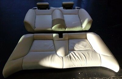 SAAB 9-3 93 Convertible Cream Leather Rear Seat Head Rests 2004 - 2010 Seats Set