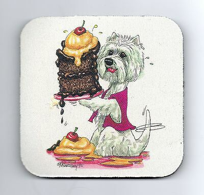 West Highland White Terrier Coasters by Mike McCartney