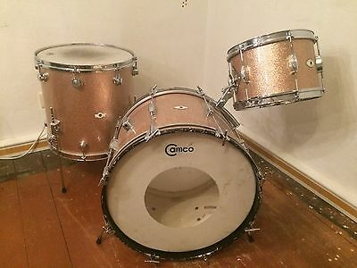 Camco Oaklawn Illinois Schlagzeug Drumset Vintage Champagne Sparkle